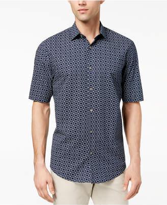 Alfani Men's Interlocking Geo-Print Shirt, Created for Macy's