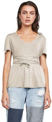 BCBGMAXAZRIA Leah Short-Sleeve Top