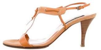 Sergio Rossi Suede T-Strap Sandals