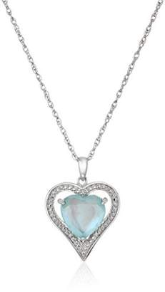 Mother of Pearl Sterling Silver Heart Genuine Quartz White Doublet