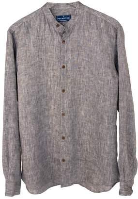 Psamathe 'Pasithea' Linen Shirt - Black Tonal