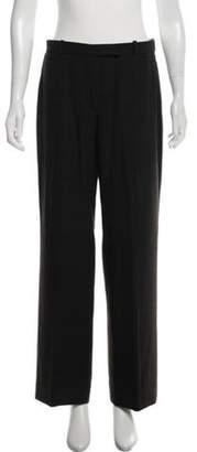 Armani Collezioni High-Rise Wide-Leg Pants Brown High-Rise Wide-Leg Pants
