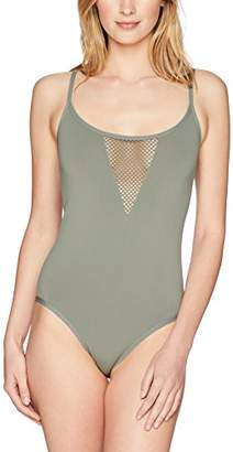 Mae Amazon Brand Women's Seamless Plunge Bodysuit