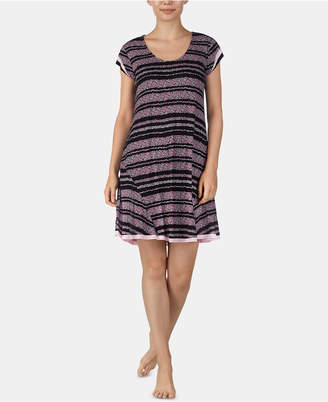 Ellen Tracy Floral-Striped Sleepshirt