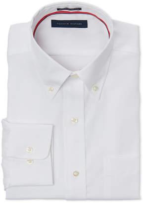 Tommy Hilfiger White Regular Fit Button-Down Dress Shirt