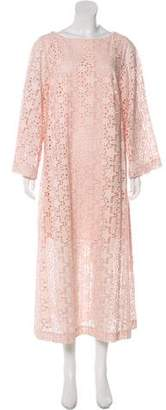 Rodebjer Eyelet-Accented Maxi Dress