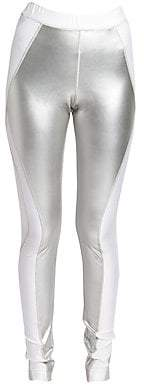 Sacai Women's Stretch Metallic Leggings
