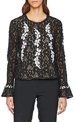 Endless Rose Women's Monique Long Sleeve Top (Black Combo), 4 (Manufacturer Size: X-Small)