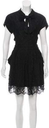 Balenciaga Lace Fit & Flare Dress