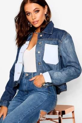 boohoo Contrast Denim Jacket
