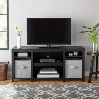 """Mainstay.. Parsons Cubby TV Stand Holds Up to 50"""" TV (Black Oak)"""