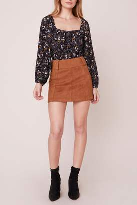 BB Dakota Suede-Secret Faux-Suede Mini-Skirt