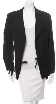 Yohji Yamamoto Wool Notch-Lapel Blazer $125 thestylecure.com