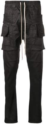 Rick Owens waxed cargo trousers