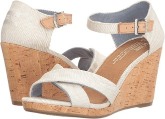 TOMS - Sienna Wedge Women's Wedge Shoes $79 thestylecure.com