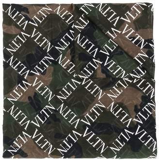 Valentino VLTN camo print scarf
