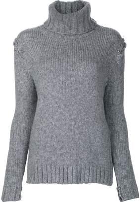 Beau Souci embellished roll-neck jumper