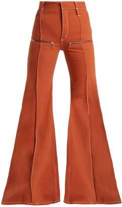 Chloé Zip-embellished flared jeans