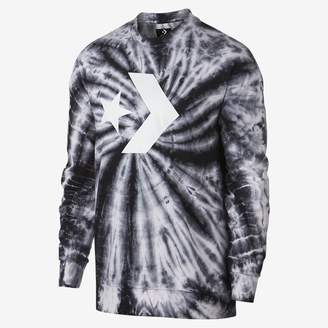 Converse Star Chevron Lightweight Tie Dye Crew Men's Sweatshirt