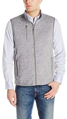 Charles River Apparel Men's Pacific Heathered Sweater Fleece Vest