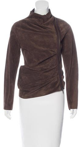 LanvinLanvin Suede Zip-Up Jacket