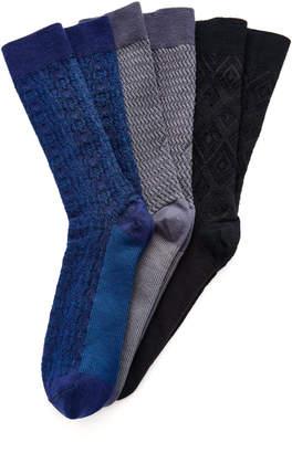Ace & Everett Set-Of-Three Wool Socks