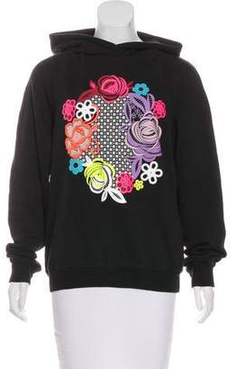 Christopher Kane Hooded Graphic Print Sweatshirt