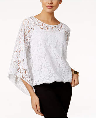 Alfani Lace Blouson Top, Only at Macy's $69.50 thestylecure.com
