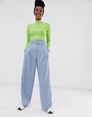 Asos Design DESIGN wide leg suit pants in powder blue