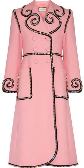 Gucci - Swarovski Crystal-embellished Wool Coat - Baby pink