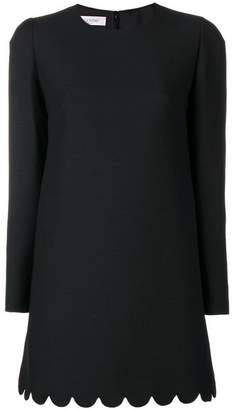 Valentino scallop trim long blouse