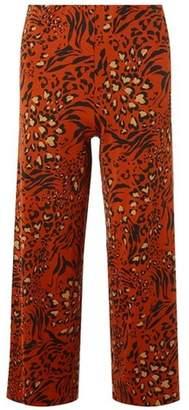Dorothy Perkins Womens Petite Leopard Print Palazzo Pants