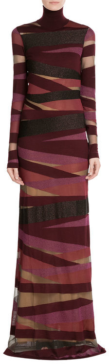 Emilio Pucci Emilio Pucci Turtleneck Maxi Dress with Virgin Wool
