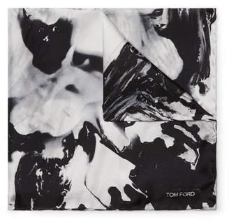 Tom Ford Printed Silk-Twill Pocket Square