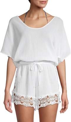 La Blanca Crochet Cotton Romper