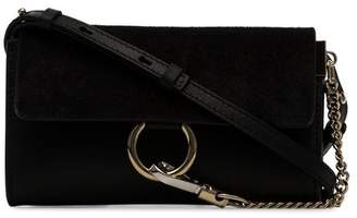 Chloé Black Faye Wallet on Strap