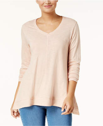 Style&Co. Style & Co V-Neck Swing Top