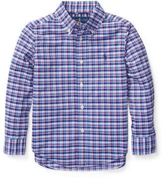 Ralph Lauren Long-Sleeve Plaid Button-Down Shirt, Size 2-4