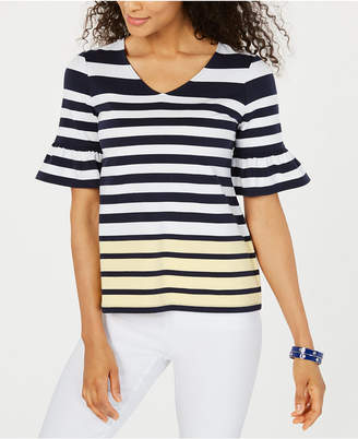 Charter Club Petite Colorblocked Top