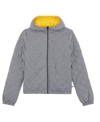 Petit Bateau (プチ バトー) - フード付きパフジャケット
