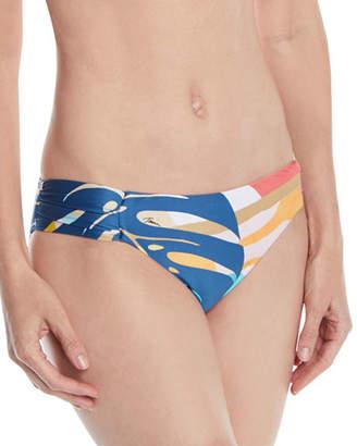 Trina Turk Banana Leaf Shirred Hipster Swim Bottoms