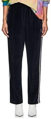 Needles Women's Striped Cotton-Blend Velour Track Pants