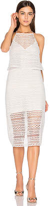 Line & Dot Daiguiri Halter Dress in White $96 thestylecure.com