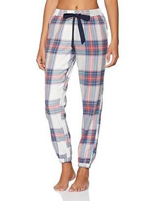 Fat Face Women's Tartan Cuffed Pyjama Bottoms, Multicolour Multi