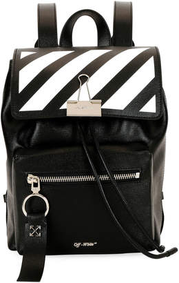 Off-White Off White Diagonal Mini Leather Backpack