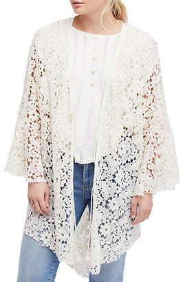 Free People Move Over Lace Cotton Cardigan