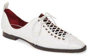 Sies Marjan Terra Lace-Up Square Toe Loafer