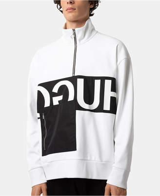 HUGO BOSS HUGO Men's Colorblocked 1/4-Zip Logo Sweatshirt