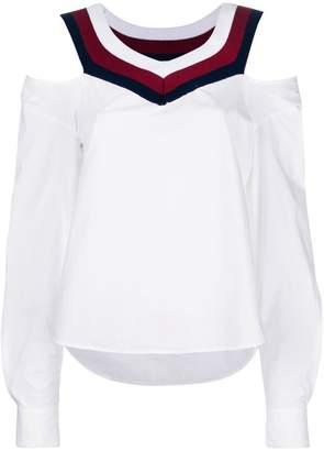Alexander Wang cut-detail flared blouse