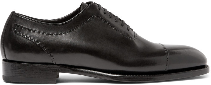 BrioniBrioni Black Leather Oxford Shoes